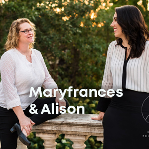 Maryfrances and Alison are achieving their mission when nonprofit leaders are achieving theirs