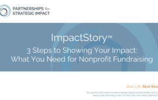 Nonprofit leaders: Watch this 35-minute free training on our ImpactStory strategy and how it can help your organization not only tell convincing impact stories, but how it can support staff performance and even strategic planning. Once you've implemented this strategy you will have everything in place to tell your impact story to anyone, anywhere, and at any time. It really is within reach. Save time and money, be more effective in your fundraising, and let go of the frantic scramble every time someone asks you to prove your impact. This strategy is more efficient, sustainable, and actionable than traditional program evaluation or impact evaluation.