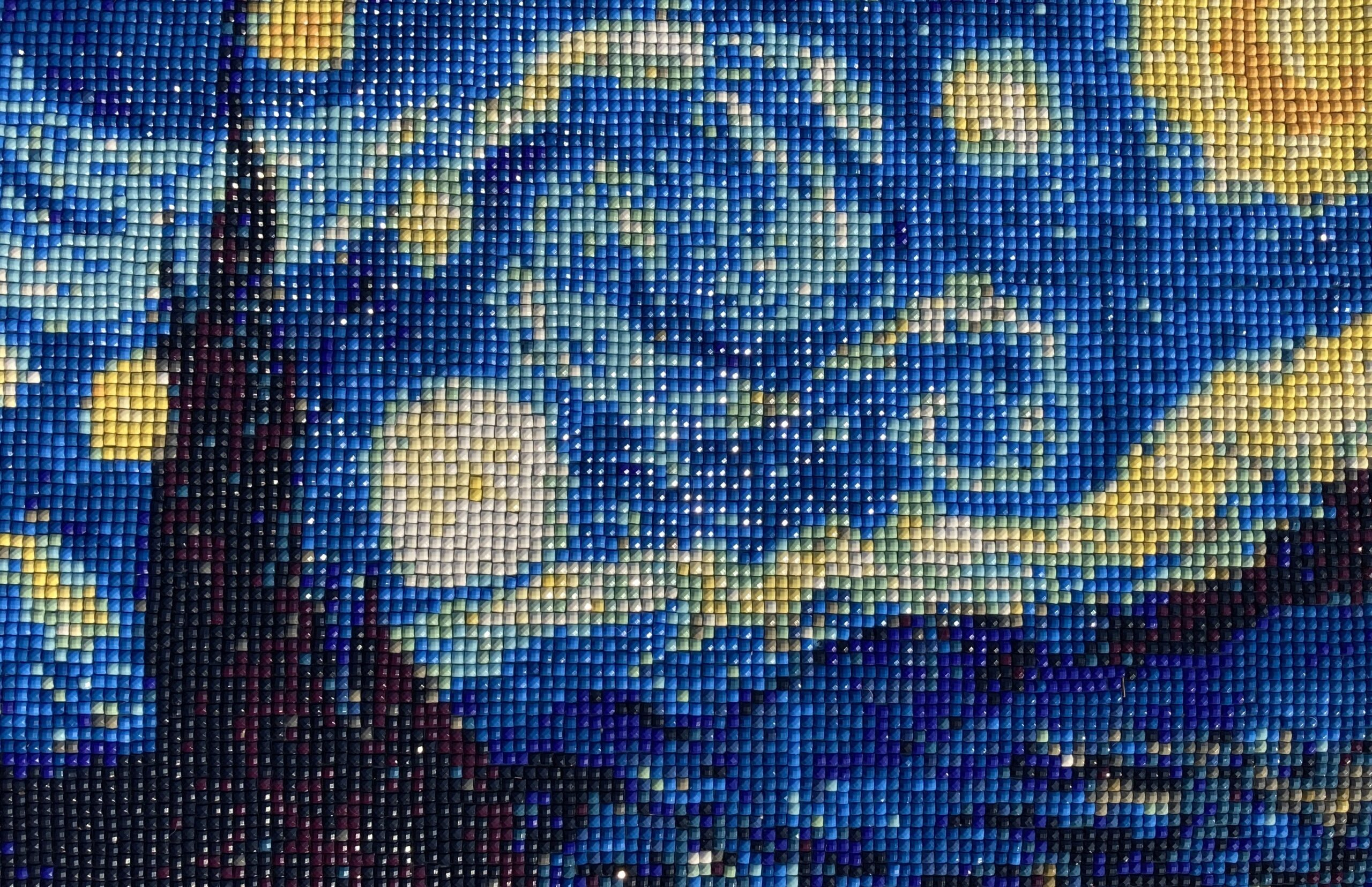 A Starry Night Mosaic illustrates how having a solid framework for program evaluation helps nonprofits tell their impact story; story telling with data